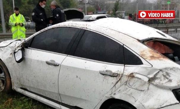 Takla Atan Otomobilden Sağ Kurtulamadı