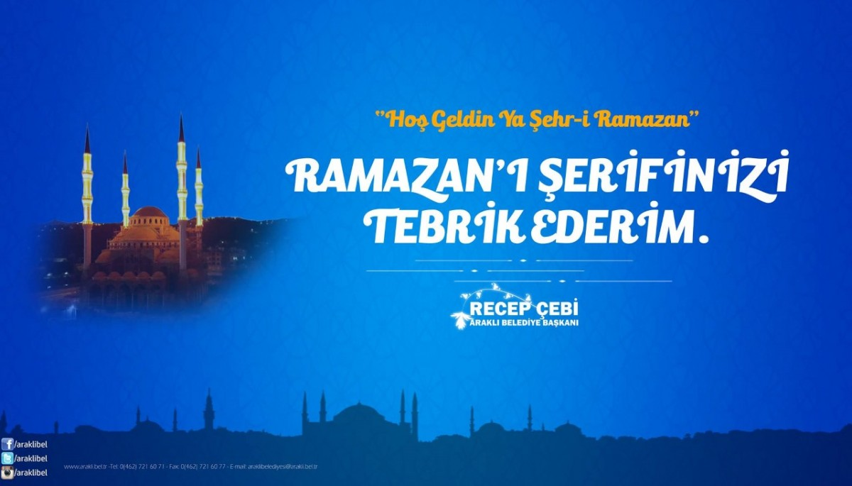 Başkan Çebi'nin Ramazan Ayı Mesajı