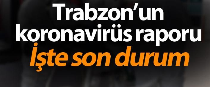 Trabzon'da son  koronavirüs vakaları