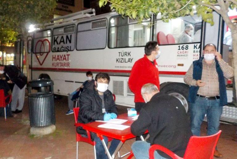 Araklı'da kan bağışına büyük ilgi