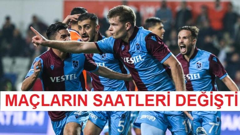 Süper Lig müsabakaları başlama saatlerinde değişiklik