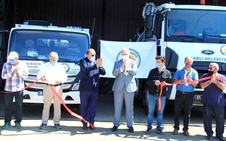 Araklı Belediyesine yeni alınan araçlar törenle tanıtıldı