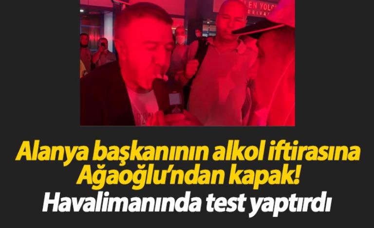 Ağaoğlu alkol testi yaptırdı, Çavuşoğlu'nun iftirası ortaya çıktı