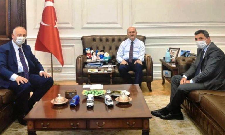 Başkan Çebi İçişleri Bakanı Süleyman Soylu'yu ziyaret etti