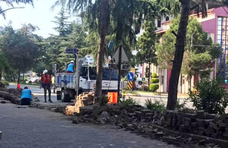 Araklı'da Elektrik Telleri Yer Altına Alınıyor