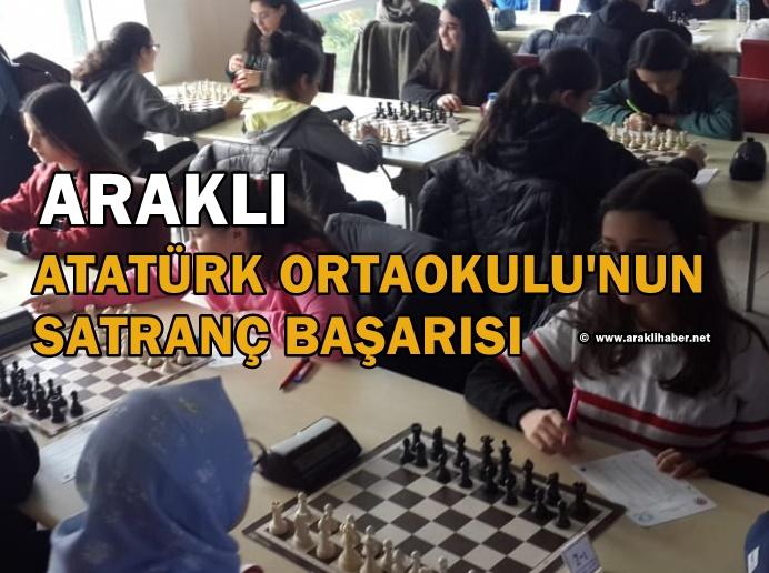 Araklı Atatürk Ortaokulu'nun Satranç Başarısı