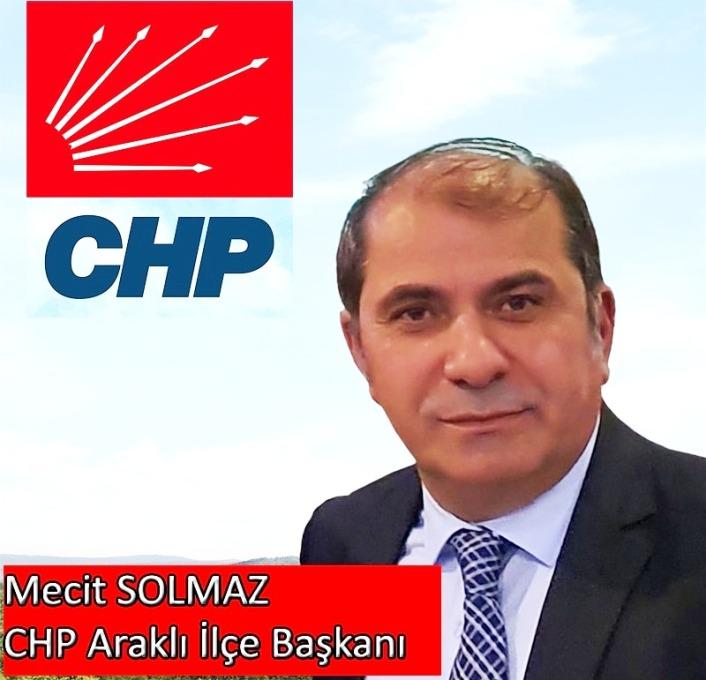 Araklı CHP İlçe Başkanı Solmaz'ın Berat Kandili Mesajı