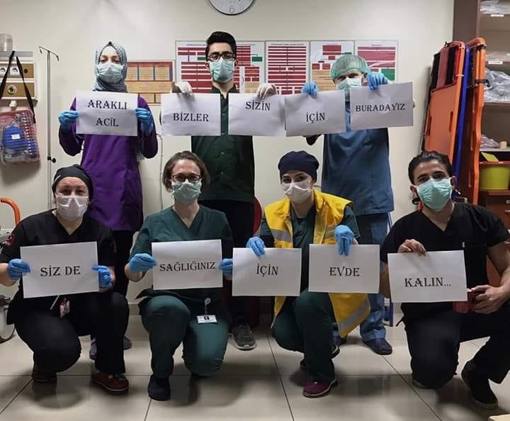 Araklı Devlet Hastanesi'nden EVDE KAL Çağrısı