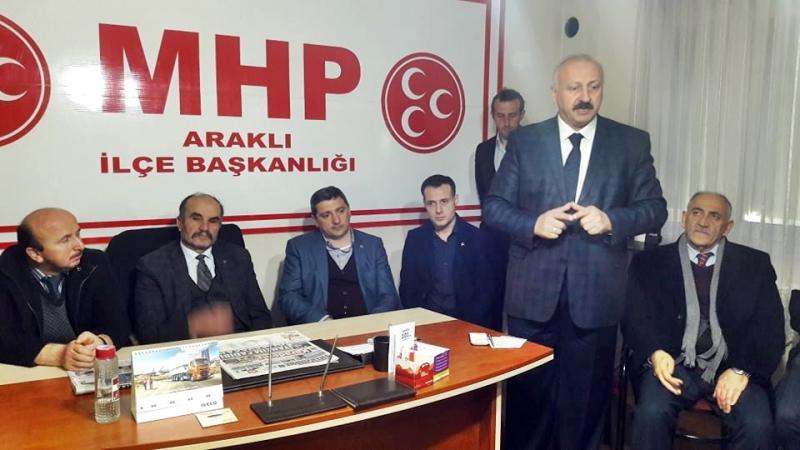 Araklı MHP İlçe Başkanı Mustafa Harbi
