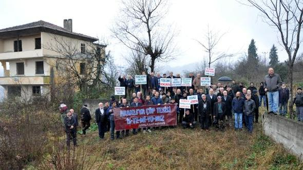 Araklı'da Çöp Protestosu