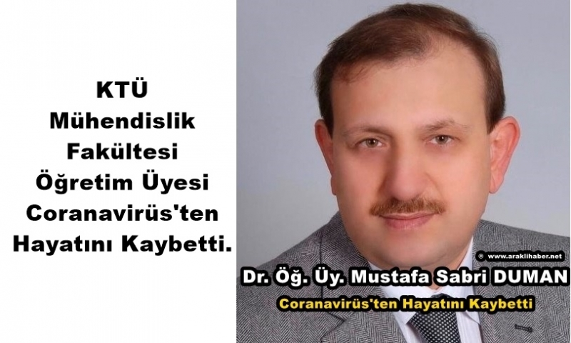 Dr. Mustafa Sabri Duman Hoca Coranavirüs'ten Hayatını Kaybetti