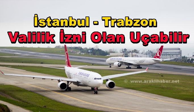 THY'nın Karşılıklı  İstanbul Trabzon Uçuşları Başlıyor