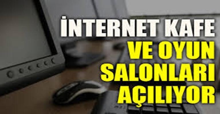 İçişleri Bakanlığı'ndan genelge: İnternet kafe ve oyun salonları açılıyor