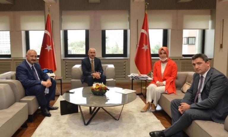 Başkan Çebi Ulaştırma Bakanı Adil Karaismailoğlu'nu Ziyaret Etti