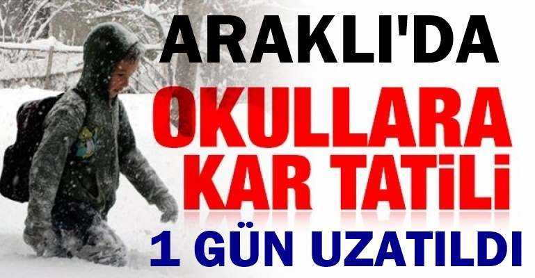 Son dakika... Trabzon'da Kar Tatili 1 Gün Daha Uzadı